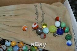 VINTAGE 1940's ERA MARBLE COLLECTION! AROUND 200 MARBLES! MUST SEE