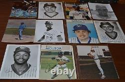 VINTAGE MILWAUKEE BREWERS AUTOGRAPH 8x10 PHOTO COLLECTION! MUST SEE