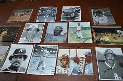VINTAGE OAKLAND ATHLETICS AUTOGRAPH 8x10 PHOTO COLLECTION! MUST SEE