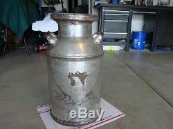 Very Rare Antique Buhl-detroit 10 Gallon Milk Caneagle/johnson's-39must See