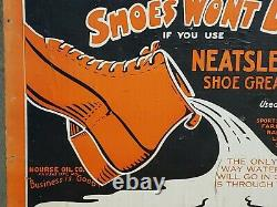 Very Rare Neatslene Shoe Grease Country Store Advertising Display Box Must See