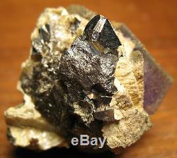 Very Unusual Hardin County Fluorite, Sphalerite, Plus Combination Must See
