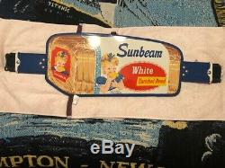 Vintage 40s/50s Sunbeam Bread Grocery Store 36 Metal Door Push Bar. Must See
