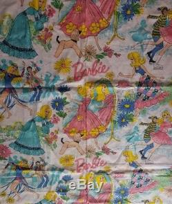 Vintage Barbie Fabric 60's 70's 4 Yards +More New Unwashed Amazing Must See Pink