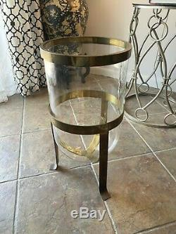 Vintage CHAPMAN 1978 LARGE Candle Planter Brass Multi Use RARE Labeled Must SEE