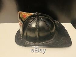 Vintage Cairns Leather Fire Fireman Helmet (Hillcrest 1 FD) NICE A MUST SEE