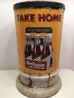 Vintage Dr. Pepper Advertising Sign On General Store Post-unique-must See
