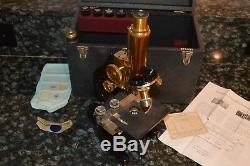 Vintage Ernest Leitz Wetzlar Brass Microscope No. 273621! Vintage! Must See
