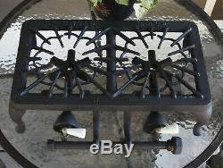 Vintage GRISWOLD #402 CAST IRON 2 BURNER Cook Stove Very Clean Must See
