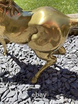 Vintage HUGE 6kg SOLID BRASS Horse/Rearing Stallion Figurine MUST SEE