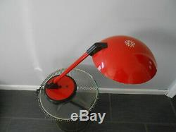 Vintage Memphis Style Red Desk Lamp attributed to Lightolier Must See