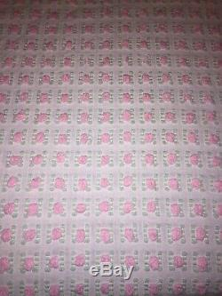 Vintage Morgan Jones Chenille Pink Rosebud Bedspread FULL Great Must See 107x94