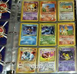 Vintage Pokemon Binder Collection With Holos 1st Editions Shadowless MUST SEE