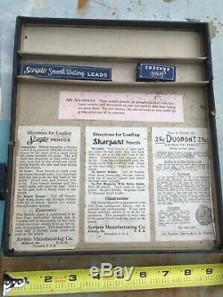Vintage Scripto Pencil Salesman Sample Kit & Store Display RARE Must See Pics