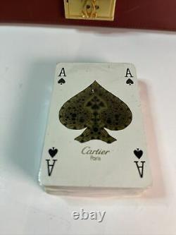 Vtg Must De Cartier Paris Poker chip Set & Cards 80s (See Notes)
