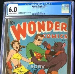 WONDER COMICS #11 (Better 1947) CGC 6.0 INGELS RAT-MAN COVER! Must See