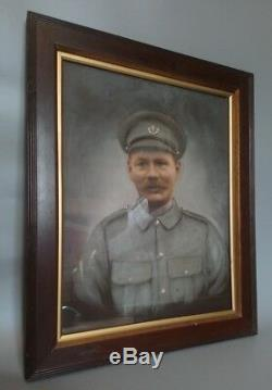 WW1 Russian Solider Wearing Service Uniform Original Period Painting MUST SEE
