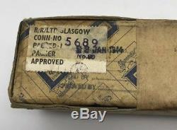 WW2 British Rolls Royce Unopened Aircraft Derwent Engine Clips 1944 MUST SEE