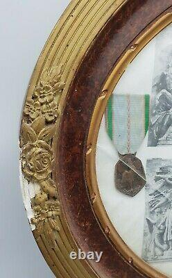WW2 French Army POW Brothers Stalag Framed Medals & Photographs MUST SEE