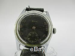 WW2 German Army Wehrmacht Heer Army Bulla Military Wristwatch DH MUST SEE