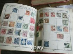 Worldwide Old Time Stamp Collection In Antique Lincoln Album Must See