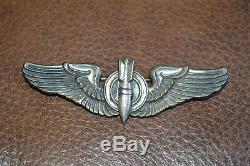 Wwii Cbi Bomber Wing! 3 Sterling Silver! Must See