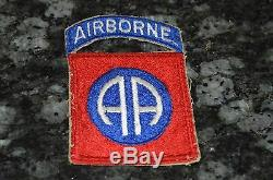 Wwii Original 82nd Airborne Patch! Must See