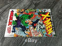 X-Men #66 High Grade 1970 Hulk & Last New Story with Original X-Men Must See Pics