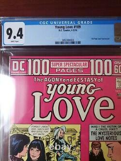 YOUNG LOVE #109 CGC 9.4 (DC, 1974) 100 PAGE GIANT! MUST-SEE! White Pages